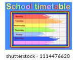 school timetable  a weekly... | Shutterstock .eps vector #1114476620