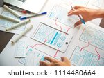 ux graphic designer creative ... | Shutterstock . vector #1114480664