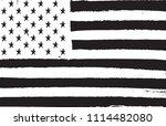 black and white usa flag.vector ... | Shutterstock .eps vector #1114482080