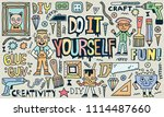 do it yourself. creativity... | Shutterstock .eps vector #1114487660