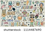 street wear hype fashion funny... | Shutterstock .eps vector #1114487690