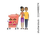 african father mother baby... | Shutterstock .eps vector #1114488074