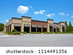 new commercial building with... | Shutterstock . vector #1114491356