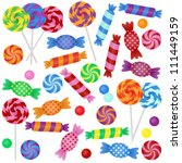 large vector set of candy  ... | Shutterstock .eps vector #111449159