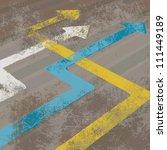 perspective arrows | Shutterstock .eps vector #111449189