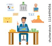 man think idea for invest by...   Shutterstock .eps vector #1114494056