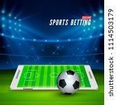 soccer bet online. sports... | Shutterstock .eps vector #1114503179