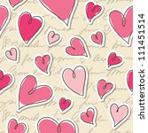seamless pattern of hearts and... | Shutterstock .eps vector #111451514