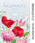 vintage floral vector... | Shutterstock .eps vector #1114534088