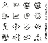 world population icons freehand | Shutterstock .eps vector #1114535648