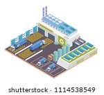 modern isometric green recycle... | Shutterstock .eps vector #1114538549