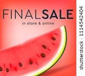 final sale social media... | Shutterstock .eps vector #1114542404