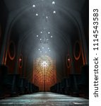 A Dark Grand Church Interior...