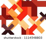 multicolored abstract geometric ... | Shutterstock .eps vector #1114548803