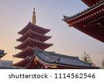 beautiful scenic pagoda at...   Shutterstock . vector #1114562546