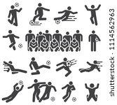 silhouette soccer football... | Shutterstock .eps vector #1114562963
