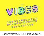 vibes cool alphabet modern... | Shutterstock .eps vector #1114570526