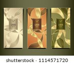 set template for package or... | Shutterstock .eps vector #1114571720