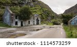 ruined cottages beside the... | Shutterstock . vector #1114573259