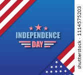 independence day poster design. ... | Shutterstock .eps vector #1114575203