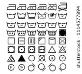 set of laundry icons | Shutterstock .eps vector #1114577894
