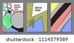abstract geometric backgrounds...   Shutterstock .eps vector #1114579589