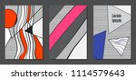 abstract geometric backgrounds... | Shutterstock .eps vector #1114579643