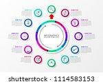 infographic design template.... | Shutterstock .eps vector #1114583153