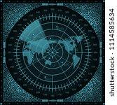 abstract digital radar screen...