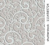 seamless damask pattern.... | Shutterstock .eps vector #1114585724