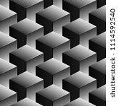 seamless cube optical pattern ...   Shutterstock .eps vector #1114592540