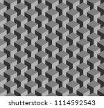 seamless cube optical pattern ...   Shutterstock .eps vector #1114592543