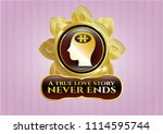 shiny emblem with head with... | Shutterstock .eps vector #1114595744