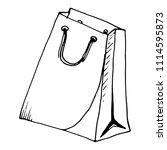 packaging paper bag. vector...   Shutterstock .eps vector #1114595873