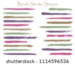 grunge ink brush stroke stripes ... | Shutterstock .eps vector #1114596536