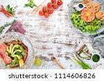 a set of food. tartar  cheese ...   Shutterstock . vector #1114606826