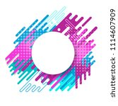 white vector circle label with... | Shutterstock .eps vector #1114607909