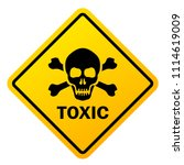 toxic safety sign vector... | Shutterstock .eps vector #1114619009
