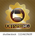 gold badge or emblem with...   Shutterstock .eps vector #1114619639