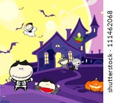 cute halloween creatures and a... | Shutterstock .eps vector #111462068