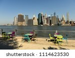 view on financial district in... | Shutterstock . vector #1114623530
