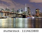 new york city  financial... | Shutterstock . vector #1114623800
