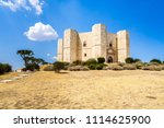 castel del monte  the castle... | Shutterstock . vector #1114625900