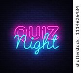 quiz night announcement poster... | Shutterstock .eps vector #1114626434