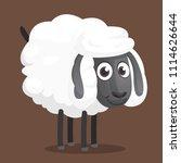 cute cartoon sheep mascot... | Shutterstock .eps vector #1114626644