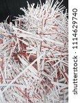 pile of shredded documentary... | Shutterstock . vector #1114629740