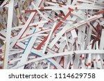 pile of shredded documentary... | Shutterstock . vector #1114629758
