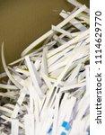 pile of shredded documentary... | Shutterstock . vector #1114629770
