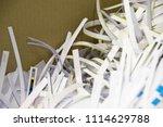 pile of shredded documentary... | Shutterstock . vector #1114629788
