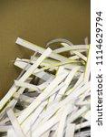pile of shredded documentary... | Shutterstock . vector #1114629794